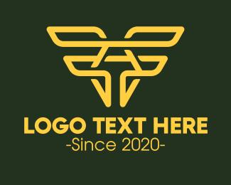 Aeroplane - Aviation Wings Letter A logo design