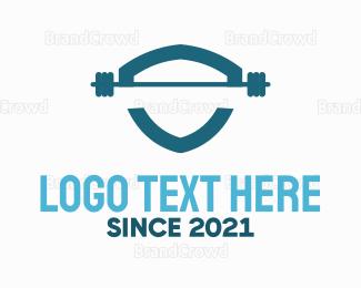 Gymnastics - Weights Shield logo design