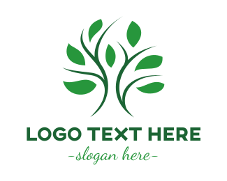 Psychiatry - Curvy Stroke Tree Leaf logo design