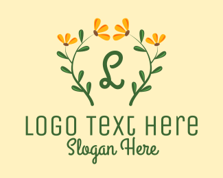 Beauty Vlog - Sunflower Plant Lettermark logo design