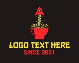 Restaurant - Ramen Rocket Noodles logo design
