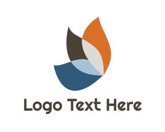 Ornithology - Colorful Wing Leaf logo design