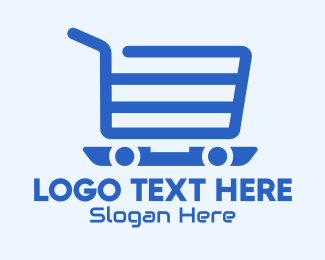 Push Cart - Online Shopping Cart logo design