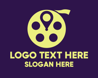 Cinema - Entertainment Cinema Location logo design