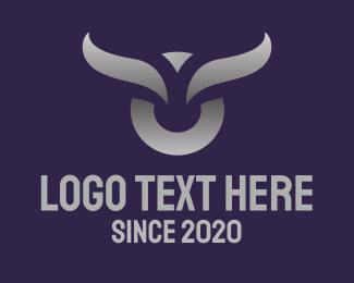 Fiesta - Gray Horn Thick Stroke  logo design