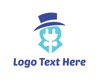 Charger - Elegant Electrician logo design