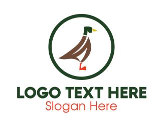Duck - Duck Circle logo design
