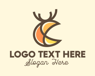 Stag - Abstract Deer Stag logo design