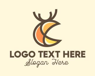 Digital Printing - Abstract Deer Stag logo design