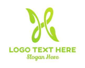 Tea - Green H Nature  logo design