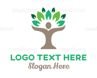Agricultural - Person Tree  logo design