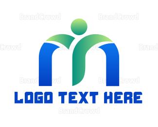 Healthy - Fresh Healthy M logo design