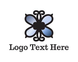 Jewelery - Mirror Butterfly logo design