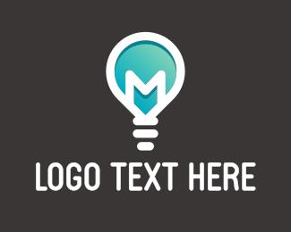 """""""Letter M Light Bulb"""" by ufoartist"""