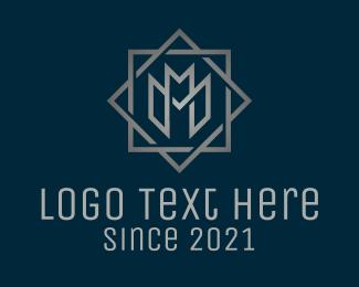 """Silver Letter M Company "" by Alexxx"