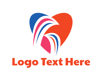 Fertility - Lovely Bird Couple logo design