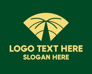 Palm - Wifi Palm Tree logo design