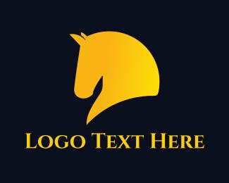 Pony - Yellow Horse logo design