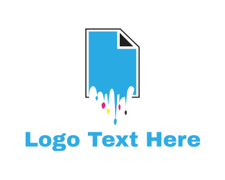 Poster - Ink Cartridge logo design