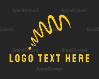 Jump - Yellow Ribbon logo design