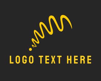 Curve - Yellow Ribbon logo design
