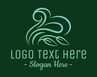 Windy - Nature Leaf Cloud  logo design