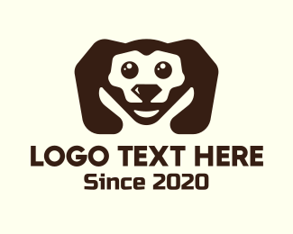 Doggy - Cute Diamond Puppy logo design