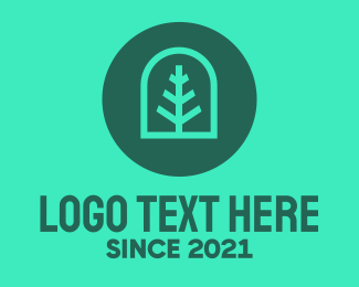 Landscape Architect - Simple Green Tree logo design