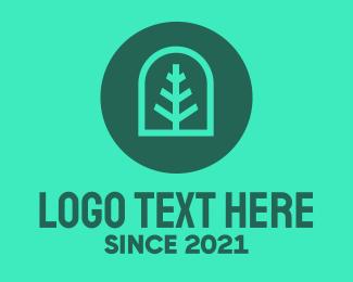 Simple - Simple Green Tree logo design