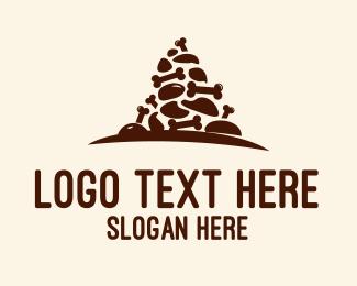 Raw - Bone Pyramid logo design