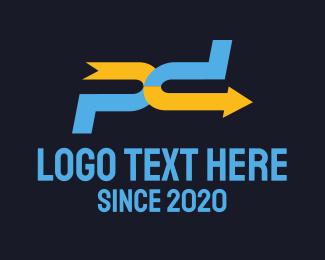 Logistics - P D Arrow logo design