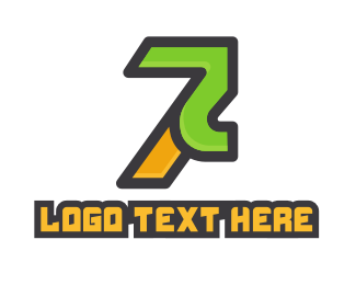 Television Channel - Futuristic Number 7 Gaming logo design