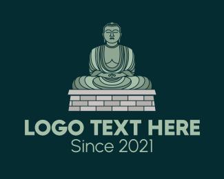 Monument - Buddha Statue logo design