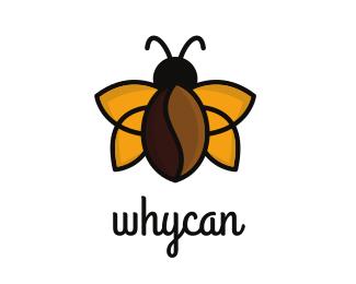 Bug Coffee Bean Bug logo design
