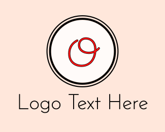 """Red Cursive Letter O"" by BrandCrowd"