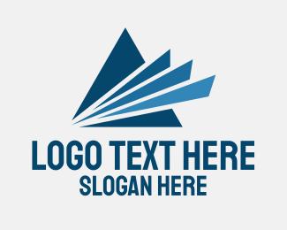 Inspection - Blue Industrial Letter A logo design