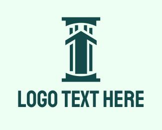 Upward - Stock Trader Pillar  logo design