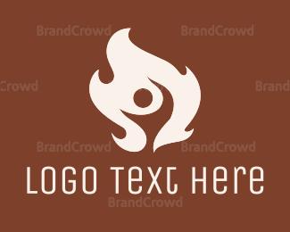 Burning Man - Flame Man logo design