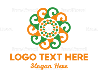 Rotation - Spiral Flower logo design
