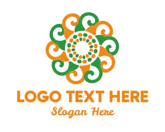 Breathwork - Spiral Flower logo design