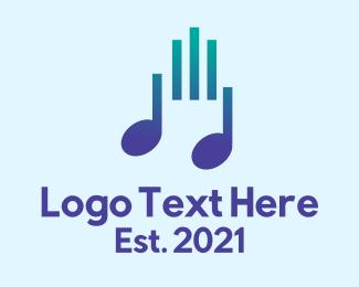 Tune - Music Note Bars  logo design