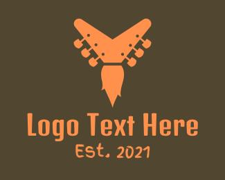 Tune - Guitar Flame  logo design