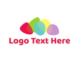 Tic Tac - Colorful Stones logo design