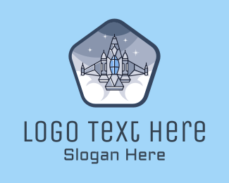 Pentagon - Pentagon Space Rocket logo design