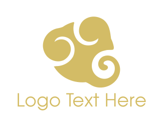 Generic - Golden Cloud logo design