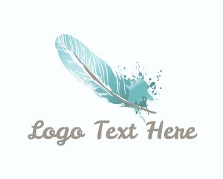 Ink - Quill Ink logo design