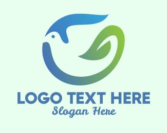 Pure - Dove Nature Leaf logo design