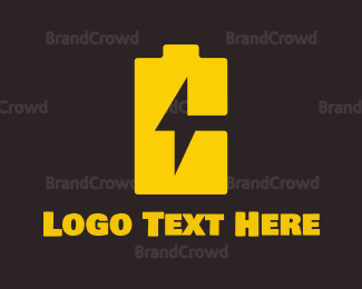 Black And Yellow - Battery Charger logo design