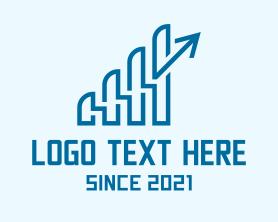 Company - Financial Investment Arrow logo design
