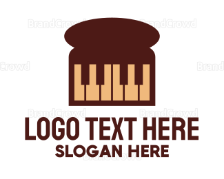 Bread - Piano Loaf logo design